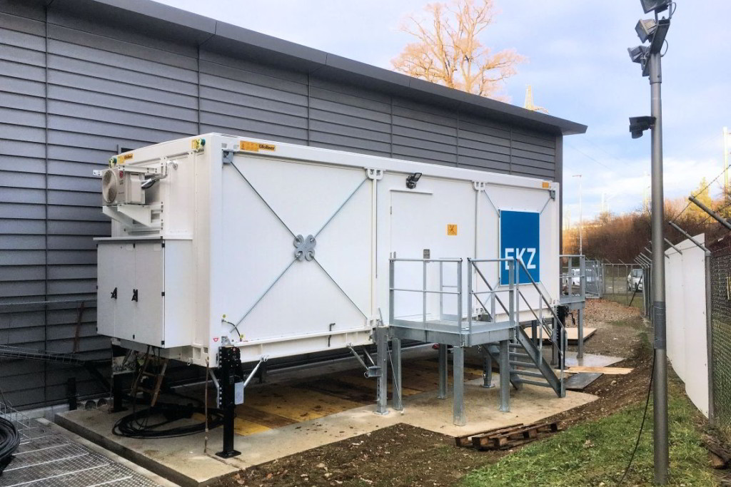 Mobile switchgear E-house for power station canton Zürich